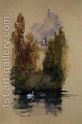 Warwick Castle by Edward Lear - Reproduction Oil Painting