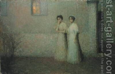 Gentle Night by Henri Eugene Augustin Le Sidaner - Reproduction Oil Painting