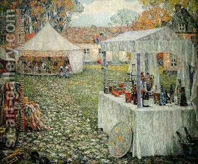 The Tents Gerberoy by Henri Eugene Augustin Le Sidaner - Reproduction Oil Painting