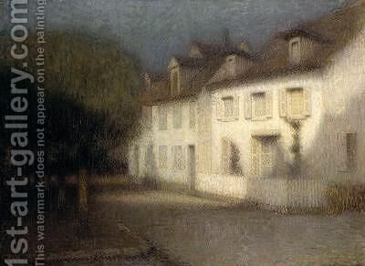 The House by Henri Eugene Augustin Le Sidaner - Reproduction Oil Painting