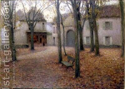 The Village in Autumn by Henri Eugene Augustin Le Sidaner - Reproduction Oil Painting