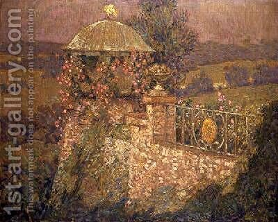 The Corner Pavilion by Henri Eugene Augustin Le Sidaner - Reproduction Oil Painting