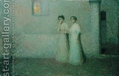 Susse Nacht by Henri Eugene Augustin Le Sidaner - Reproduction Oil Painting