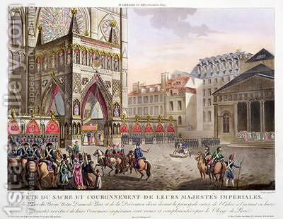 Sacred Festival and Coronation of their Imperial Majesties by (after) Le Coeur, Louis - Reproduction Oil Painting