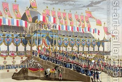 Sacred Festival and Coronation of their Imperial Majesties 5 by (after) Le Coeur, Louis - Reproduction Oil Painting