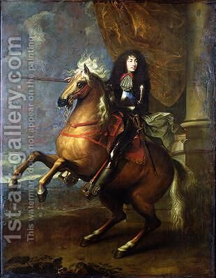 Equestrian Portrait of Louis XIV by Charles Le Brun - Reproduction Oil Painting