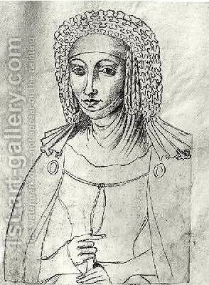 Marguerite de France 1310-82 by Jacques Le Boucq - Reproduction Oil Painting