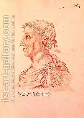 Petrarch 1304-74 by Jacques Le Boucq - Reproduction Oil Painting