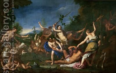 The Murder of Orpheus by Gregorio Lazzarini - Reproduction Oil Painting