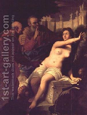 Susanna and the Elders by Gregorio Lazzarini - Reproduction Oil Painting