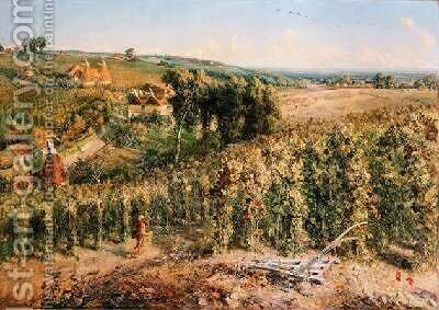 The Hop Garden by Cecil Gordon Lawson - Reproduction Oil Painting