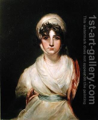 Portrait of Sarah Siddons 1755-1831 by (after) Lawrence, Sir Thomas - Reproduction Oil Painting