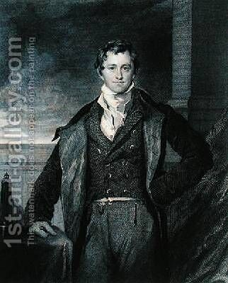 Portrait of Sir Humphry Davy 1778-1829 by (after) Lawrence, Sir Thomas - Reproduction Oil Painting