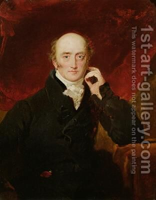 Portrait of George Canning 1770-1827 by (after) Lawrence, Sir Thomas - Reproduction Oil Painting