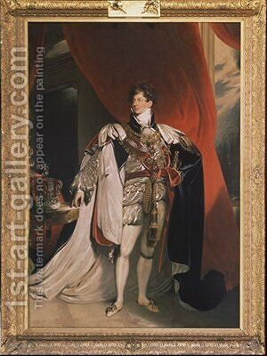 Portrait of King George IV by (after) Lawrence, Sir Thomas - Reproduction Oil Painting