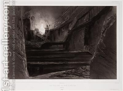 View Taken in the Mines of Wieliczka Poland by (after) Lauvergne, Barthelemy - Reproduction Oil Painting