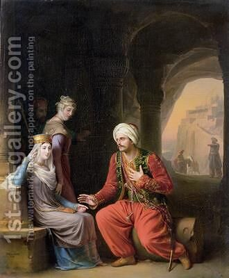 The Entreaty by Jean Antoine Laurent - Reproduction Oil Painting
