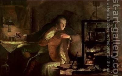James Watt 1736-1819 and the Newcomen Engine by James Eckford Lauder - Reproduction Oil Painting