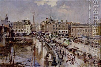 Jamaica Bridge Glasgow by Charles James Lauder - Reproduction Oil Painting