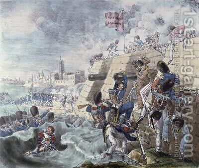 The Capture of the Fort of Trocadero by Charles Lasteyrie du Saillant - Reproduction Oil Painting