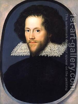 Sir William Pope 1596-1624 by (attr. to) Larkin, William - Reproduction Oil Painting