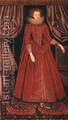 Catherine Rich Countess of Suffolk by (attr. to) Larkin, William - Reproduction Oil Painting