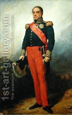 Georges Mouton 1770-1838 Count of Lobau by Charles-Philippe Lariviere - Reproduction Oil Painting