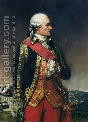 Jean-Baptiste de Vimeur 1725-1807 Count of Rochambeau by Charles-Philippe Lariviere - Reproduction Oil Painting