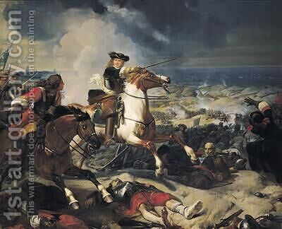 Battle of the Dunes by Charles-Philippe Lariviere - Reproduction Oil Painting