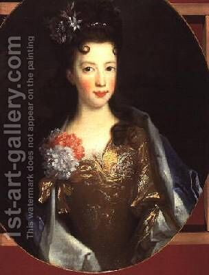 Princess Louisa Maria Teresa Stewart by (after) Largilliere, Nicholas de - Reproduction Oil Painting