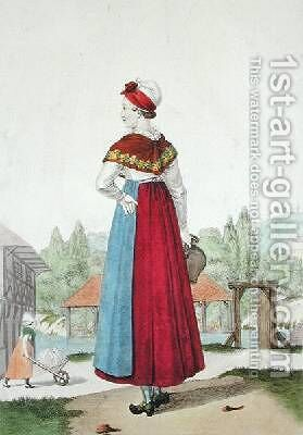 Traditional costume of Lisieux by (after) Lante, Louis-Marie - Reproduction Oil Painting