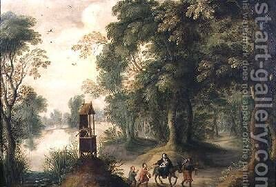 The Flight into Egypt by Jasper van der Lanen - Reproduction Oil Painting