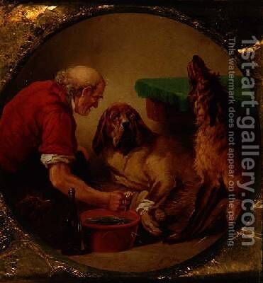 First Aid by (after) Landseer, Sir Edwin - Reproduction Oil Painting