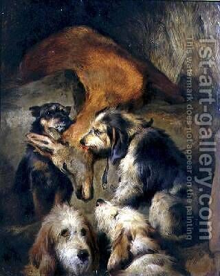 Death of a Stag by (after) Landseer, Sir Edwin - Reproduction Oil Painting