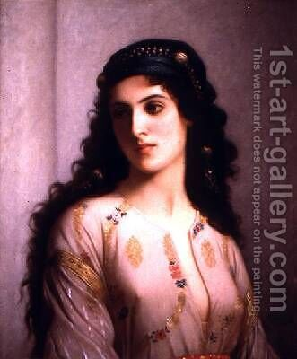 Jewish Woman from Tangiers by Charles Landelle - Reproduction Oil Painting