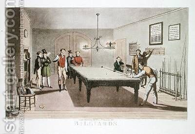 Billiards by (after) Lambert, E.F. - Reproduction Oil Painting