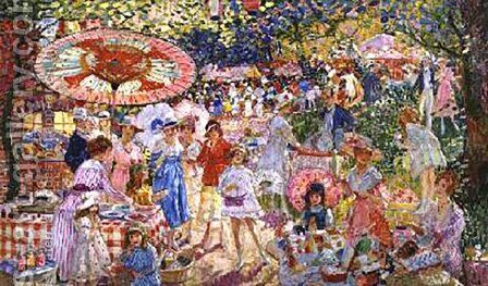 Summer Fair by Camille Nicolas Lambert - Reproduction Oil Painting