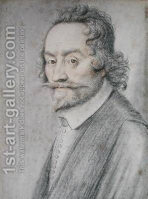 Portrait presumed to be Francois Quesnel 1543-1619 by (attr. to) Lagneau or Lanneau, Nicolas - Reproduction Oil Painting
