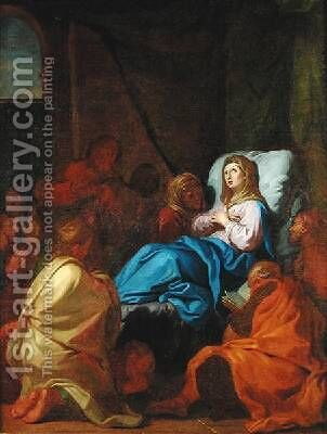 The Death of the Virgin by Charles de Lafosse - Reproduction Oil Painting
