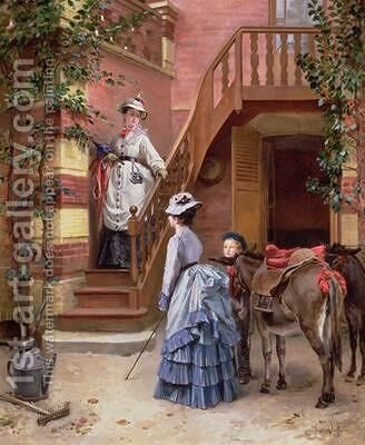 A Day in the Country by Cecille Berthe Lafosse - Reproduction Oil Painting