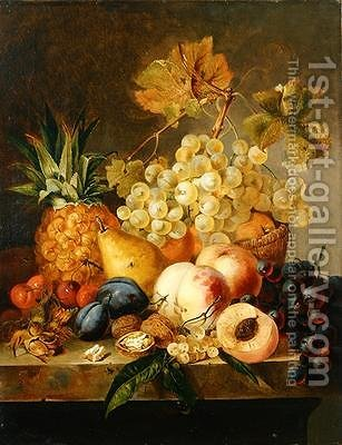 Still life with fruit by Edward Ladell - Reproduction Oil Painting