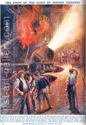 The Birth of the Giant of Modern Industry by Charles John de Lacy - Reproduction Oil Painting