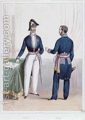 French Prefect and Mayor during the period 1830-47 of the July Monarchy in France by (after) Lacauchie, Alexandre - Reproduction Oil Painting