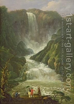 The Falls of Terni by Carlo Labruzzi - Reproduction Oil Painting