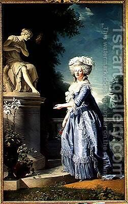 Portrait of Marie-Louise 1733-99 Victoire de France by Adelaide Labille-Guyard - Reproduction Oil Painting