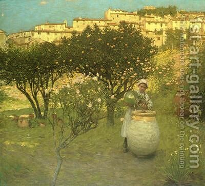 December in Provence by Henry Herbert La Thangue - Reproduction Oil Painting