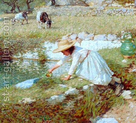 Provencal Spring by Henry Herbert La Thangue - Reproduction Oil Painting