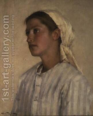 Portrait of a Girl by Henry Herbert La Thangue - Reproduction Oil Painting
