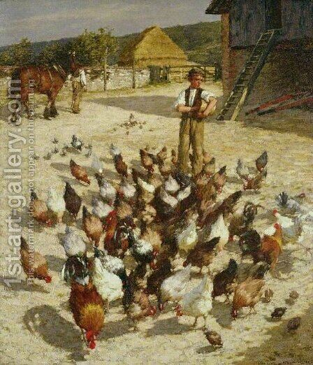 A Sussex Farm by Henry Herbert La Thangue - Reproduction Oil Painting