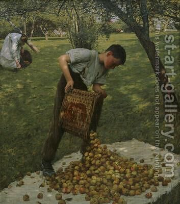Cider Apples by Henry Herbert La Thangue - Reproduction Oil Painting